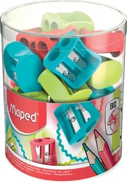 Maped potloodslijper Vivo 2-gaats, geassorteerde kleuren, doos van 30 stuks