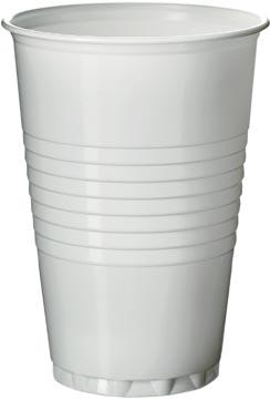 Automaatbeker uit polystyreen voor warme dranken, 200 ml, wit, pak van 100 stuks