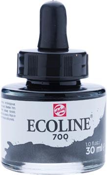 Talens Ecoline waterverf flacon van 30 ml, zwart