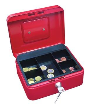 Wedo geldkoffer, ft 20 x 16 x 9 cm, rood