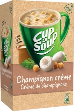 Cup-a-Soup champignon crème met croutons, pak van 21 zakjes