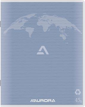 Aurora Writing 45 kladschrift uit gerycleerd papier, 96 bladzijden, geruit 5 mm, lichtblauw
