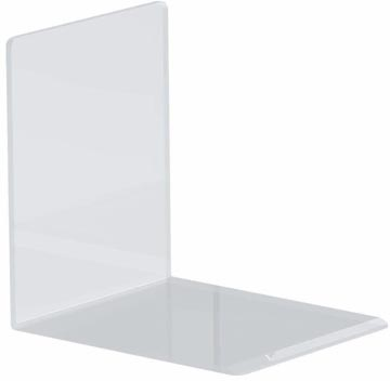 Maul boekensteun ft 10 x 8 x 10 cm, transparant, pak van 2 stuks