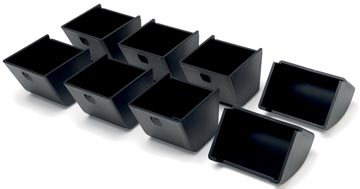 Safescan muntbakjes voor kassalades serie 4617, zwart, set van 8 stuks