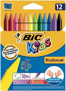 Bic Kids Plastidecor waskrijt, etui met 12 stuks