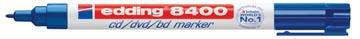 Edding permanent marker voor CD/DVD/BD e-8400 blauw