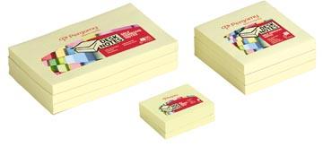 Pergamy notes, ft 38 x 51 mm, pak van 12 blokken, geel
