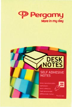 Pergamy notes ft 51 x 76 mm, geel
