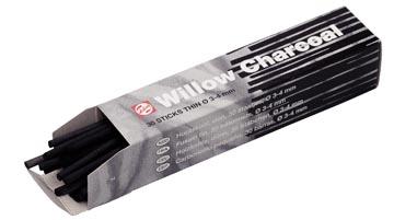 Talens houtskool 3 - 4 mm, doosje met 30 staafjes