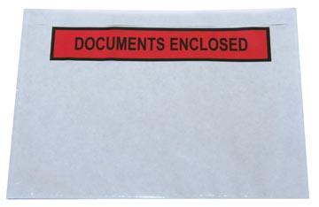 Zelfklevend documentenmapje ft A6, documents enclosed, doos van 1000 stuks