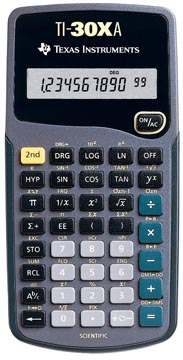 Texas wetenschappelijke rekenmachine TI-30XA
