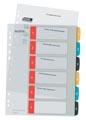 Leitz Cosy tabbladen, ft A4, 11-gaatsperforatie, PP, geassorteerde kleuren, set 1-6